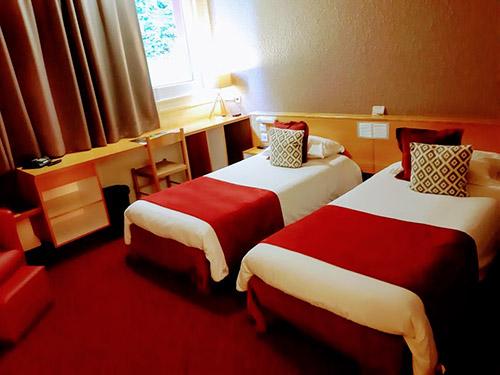 Chambre twin Golbey - Hôtel Atrium